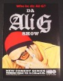 Magazine Ad for Da Ali G Show, HBO TV Show, Comedy Series, 2003
