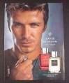 Magazine Ad for David Beckham Instinct Fragrances For Men, Celebrity, 2008