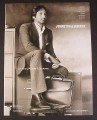 Magazine Ad for Johnston & Murphy Clothing, David Duchovny on Cabinet, Celebrity Endorsement