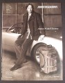 Magazine Ad for Johnston & Murphy Clothing, David Duchovny on Car, Celebrity Endorsement