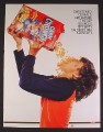 Magazine Ad for Kid Downing A Box of Cap'N Crunch Cereal, Top Sources of Empty Calories, 2008