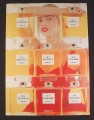 Magazine Ad for Chanel No 5 Perfume, Estella Warren, Planet Of The Apes Actress, 1998