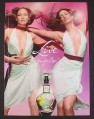 Magazine Ad for Live Fragrance Perfume, Jennifer Lopez in Low Cut Dress, Celebrity, 2005