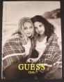 Magazine Ad for Guess Girls Clothing, Mila Kunis, Celebrity, 1998