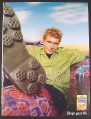 Magazine Ad for Post Honey-Comb Cereal, Guy with Honeycomb Pattern on Shoes & Shirt, 2000
