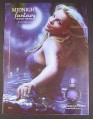 Magazine Ad for Midnight Fantasy Fragrance Perfume, Britney Spears, Celebrity, 2007