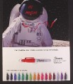 Magazine Ad for Sharpie Markers, 16 Colors, Astronaut with Hi Mom on Visor, 2009
