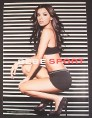 Magazine Ad for Bebe Sport, Black Shorts & Top, Eva Longoria, Celebrity, 1998