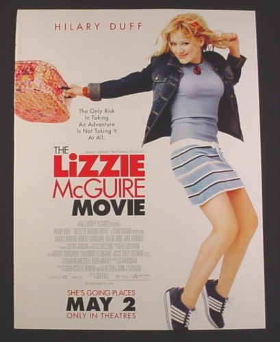 Magazine Ad for Lizzie McGuire Movie, Hilary Duff, Celebrity, 2003