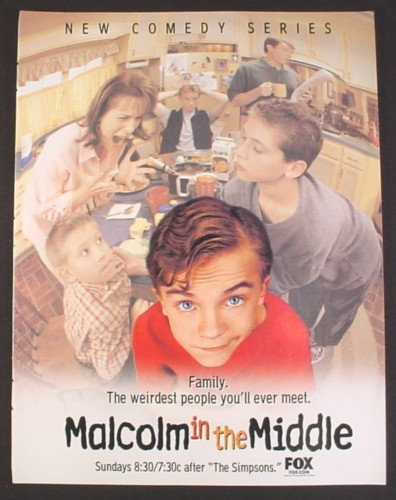 Magazine Ad for Malcolm In The Middle TV Show, Frankie Muniz, Bryan Cranston, 2000