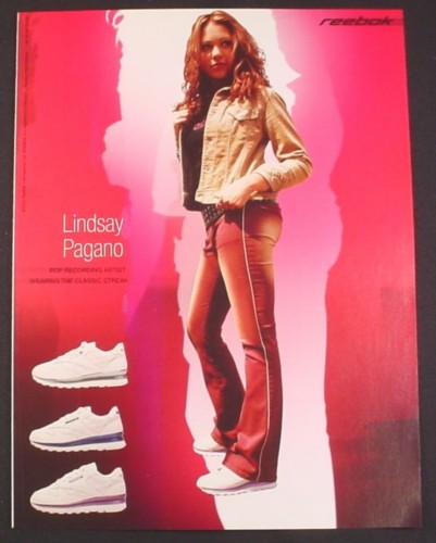 Magazine Ad for Reebok Classic Stream Sneakers, Lindsay Pagano, Celebrity, 2002