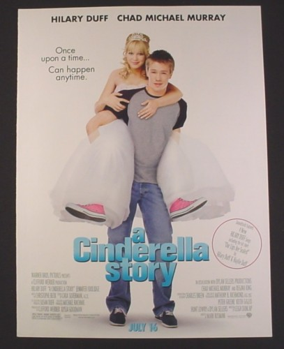Magazine Ad for A Cinderella Story Movie, Hillary Duff, Chad Michael Murray, 2004