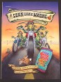 Magazine Ad for Corn Nuts Ranch Snacks, Corn Gone Wrong, Bikers, Funny, 2002