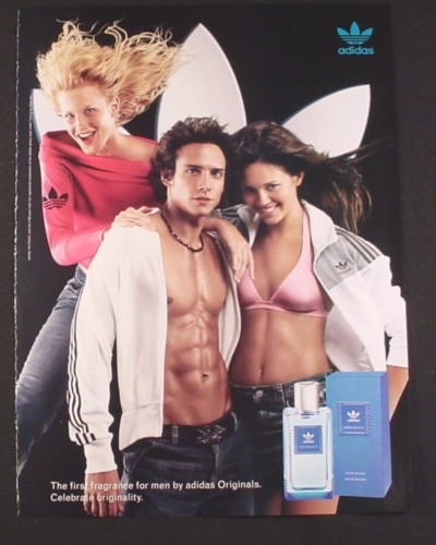 Magazine Ad for Adidas Fragrance For Men, Six Pack Abs, 2004