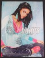 Magazine Ad for Bongo Clothing Fashion, Snow Falling, Rachel Bilson, Celebrity, 2004