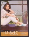 Magazine Ad for Michelle K Footwear, Evangeline Lilly, Celebrity Endorsement, 2006
