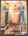 Magazine Ad for Nip Tuck TV Show, Doctors with Statue & Sexy Woman, 2006