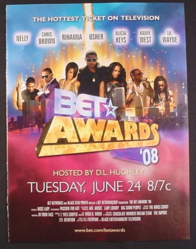 Magazine Ad for Bet Awards 08 TV Show Hosted by D.L. Hughley, 2008
