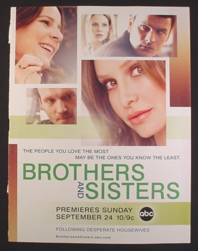 Magazine Ad for Brothers And Sisters TV Show, Calista Flockhart, Rob Lowe, 2006