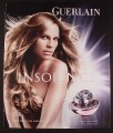 Magazine Ad for Insolence Fragrance Perfume, Nude Hillary Swank, Celebrity, 2006