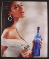 Magazine Ad for Skyy Vodka, #77 Behind The Scenes, Sexy Woman & White Feather, 2006