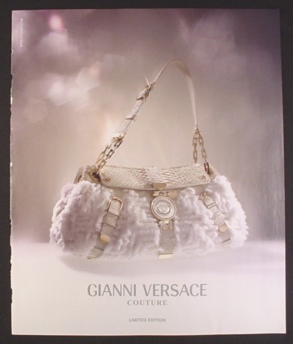 Magazine Ad For Gianni Versace Couture White Purse Fashion 2006 9 By 10 3 4