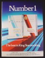Magazine Ad for Embassy Number 1 Cigarettes, British, Best In King Size Smoking, 1979