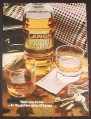 Magazine Ad for Langs Old Scotch Whisky, Golden Glow of Langs, 1974, 9 1/4 by 12 1/2