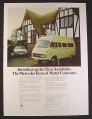 Magazine Ad for Mercedes Benz Ultra Autobahn British Car Automobile, 4 Berth Motor Caravan, 1974
