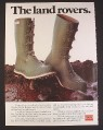 Magazine Ad for Royal Ranger Rubber Boots Uniroyal, Green Buckles on Front, 1977, 9 1/4 by 12 1/2