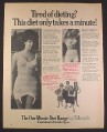 Magazine Ad for One Minute Diet Foundations for The Fuller Figure, Underwear, British, 1970