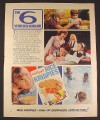 Magazine Ad for Kellogg's Rice Krispies Cereal, The 6 Year Old Scholar, British, 1970, 10 by 12 1/2