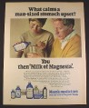 Magazine Ad for Milk Of Magnesia, Mum's Medicines, British, 1970, 10 by 12 1/2