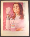Magazine Ad for Pink Windolene Glass Polish, British, 1969, 10 by 12 1/2