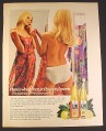 Magazine Ad for PJL Lemon Juice, Woman in Panties Looking In Mirror, British, 1970, 10 by 12 1/2