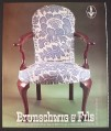 Magazine Ad for Brunschwig & Fils Queen Anne Resist Chair, 1987, 9 by 11