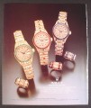 Magazine Ad for Rolex Crown Collection Watches & Rings, 1987, 9 by 11