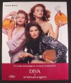 Magazine Ad for Diva Perfume Fragrance, Emanuel Ungaro, 3 Women with Large Bottles, 1988