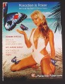 Magazine Ad for Paradise Poker .Com, Sexy Woman in Bathing Suit on Beach, 2004, 8 3/4 by 11 3/4