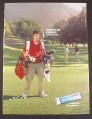 Magazine Ad for Wrigley's Extra Polar Ice Gum, Caddie with 2 Golf Bags, 2003, 8 3/4 by 11 3/4