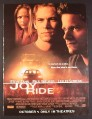 Magazine Ad for Joy Ride Movie, Paul Walker, Leelee Sobieski, Steve Zahn, 2002, 8 3/4 by 11 3/4