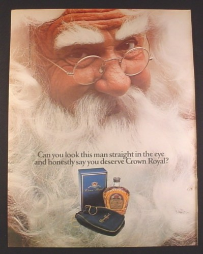 Magazine Ad for Crown Royal Whisky, Santa Claus, 1979, 10 1/4 by 13 1/4