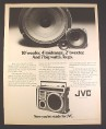 Magazine Ad for JVC Model RC-550 Portable Radio Cassette Player, 1979, 10 1/4 by 13 1/4