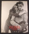 Magazine Ad for Guess Jeans, Guy with Guitar & Girl, 1994, 10 1/4 by 13 1/4