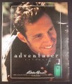 Magazine Ad for Eddie Bauer Adventurer Cologne, Fragrance for Men, 1994, 10 1/4 by 13 1/4
