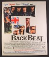 Magazine Ad for Back Beat Movie, 5 Guys, 4 Legends, 3 Lovers, 2 Friends, 1 Band, 1994