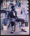 Magazine Ad for 501 Levi's Jeans, Guy with Black & White Shoes, 1994, 10 1/4 by 13 1/4
