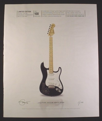 Magazine Ad for Fender Limited Edition Eric Clapton Crossroads Stratocaster Electric Guitar, 2007