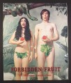 Magazine Ad for Altoids, Adam & Eve in Fig Leaves, Snake, Forbidden Fruit, 2004, 10 by 12