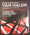 Magazine Ad for Van Halen, Best of Both Worlds Album, 2004, 10 by 12